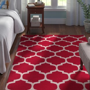 Reviews Bohannon Red & Off White Geometric Area Rug By Andover Mills