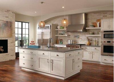 Coastal Kitchen Design Photo by Wayfair
