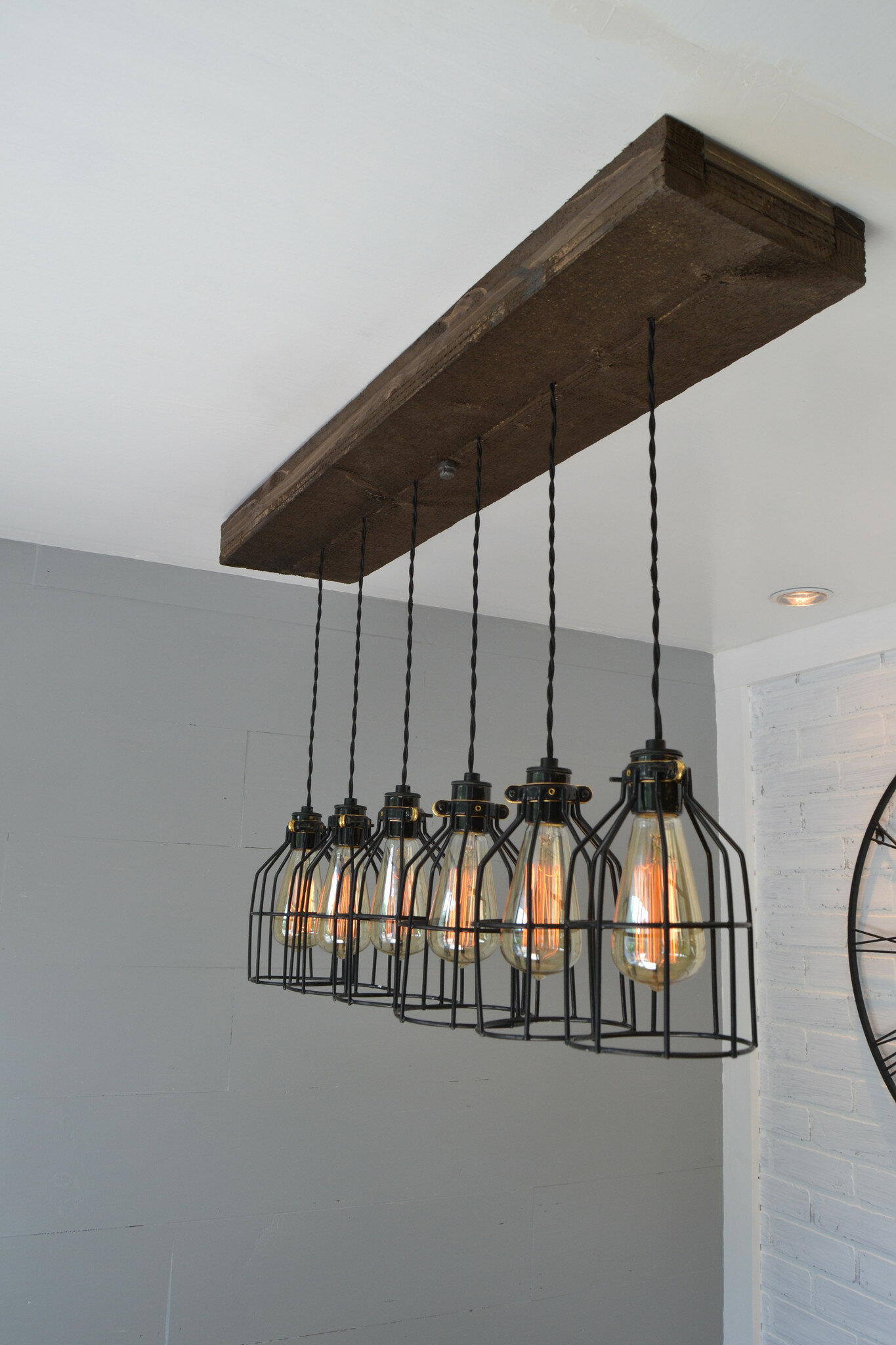 Kitchen island lighting youll love wayfair 6 light kitchen island pendant arubaitofo Image collections