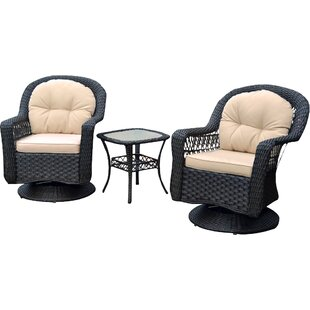 Griswold 3 Piece Conversation Set with Cushions