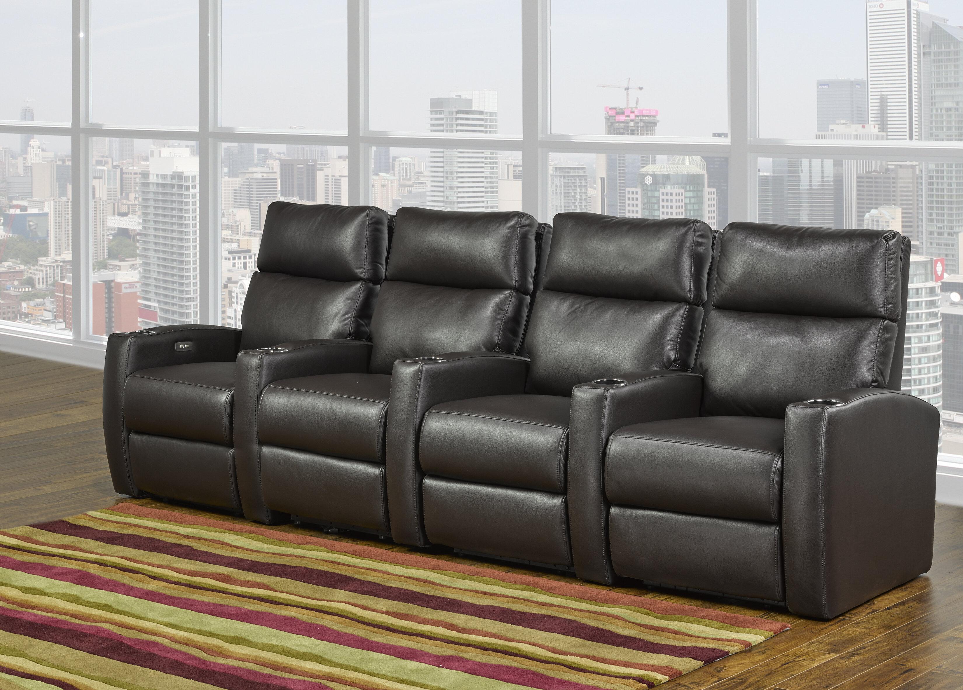 Swell Home Theater Sofa Row Of 4 Creativecarmelina Interior Chair Design Creativecarmelinacom