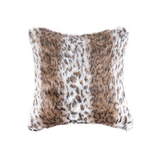 Faux Hide Faux Fur Throw Pillow