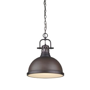 Beachcrest Home Bodalla 1-Light Bell Pendant