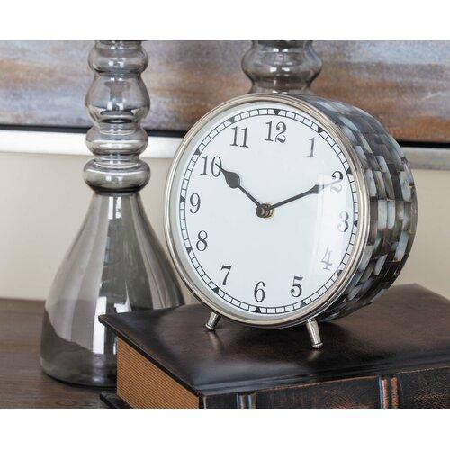 Breakwater Bay Stainless Steel Inlay Table Clock Reviews