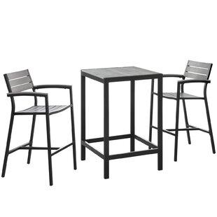 Windsor 3 Piece Bar Height Dining Set