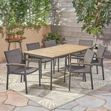 Shaunte 7 Piece Dining Set