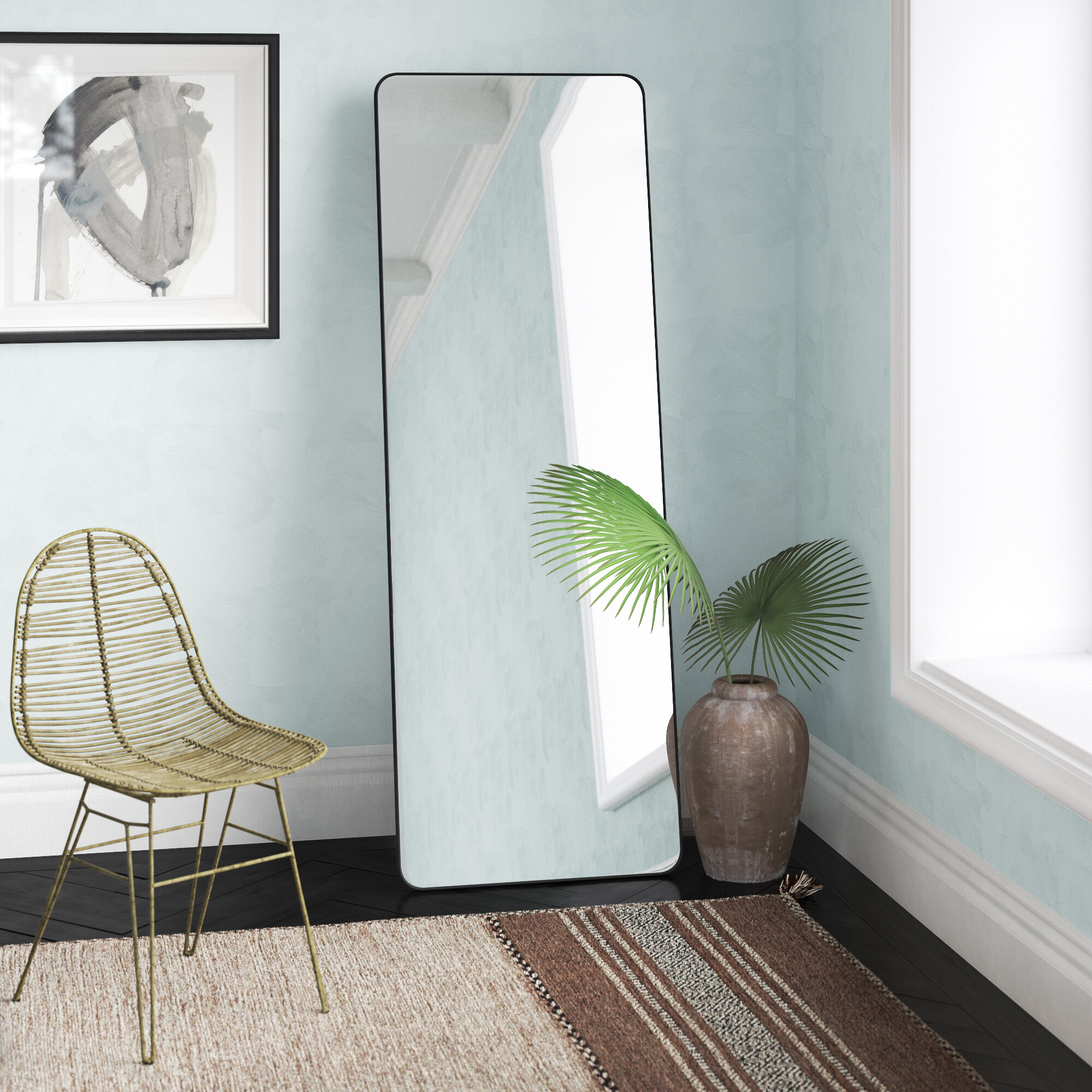 Aydden Glam Beveled Full Length Mirror Joss Main