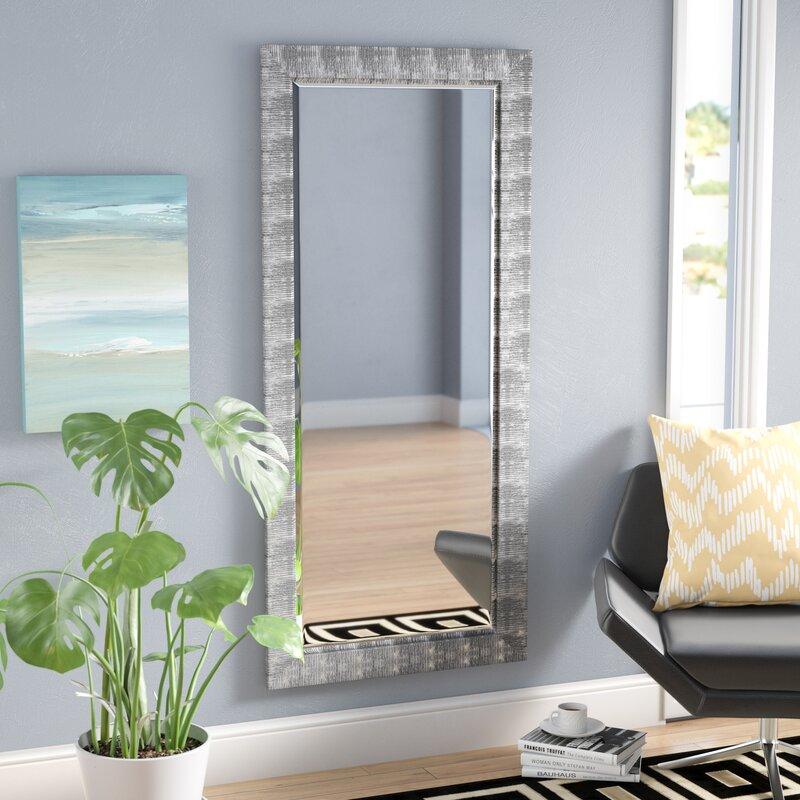 Grain Texture Beveled Wall Mirror