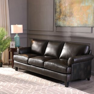 Chicoine Top Grain Leather Standard Sofa