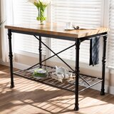 Alejo Vintage Rustic Industrial Prep Table by Williston Forge
