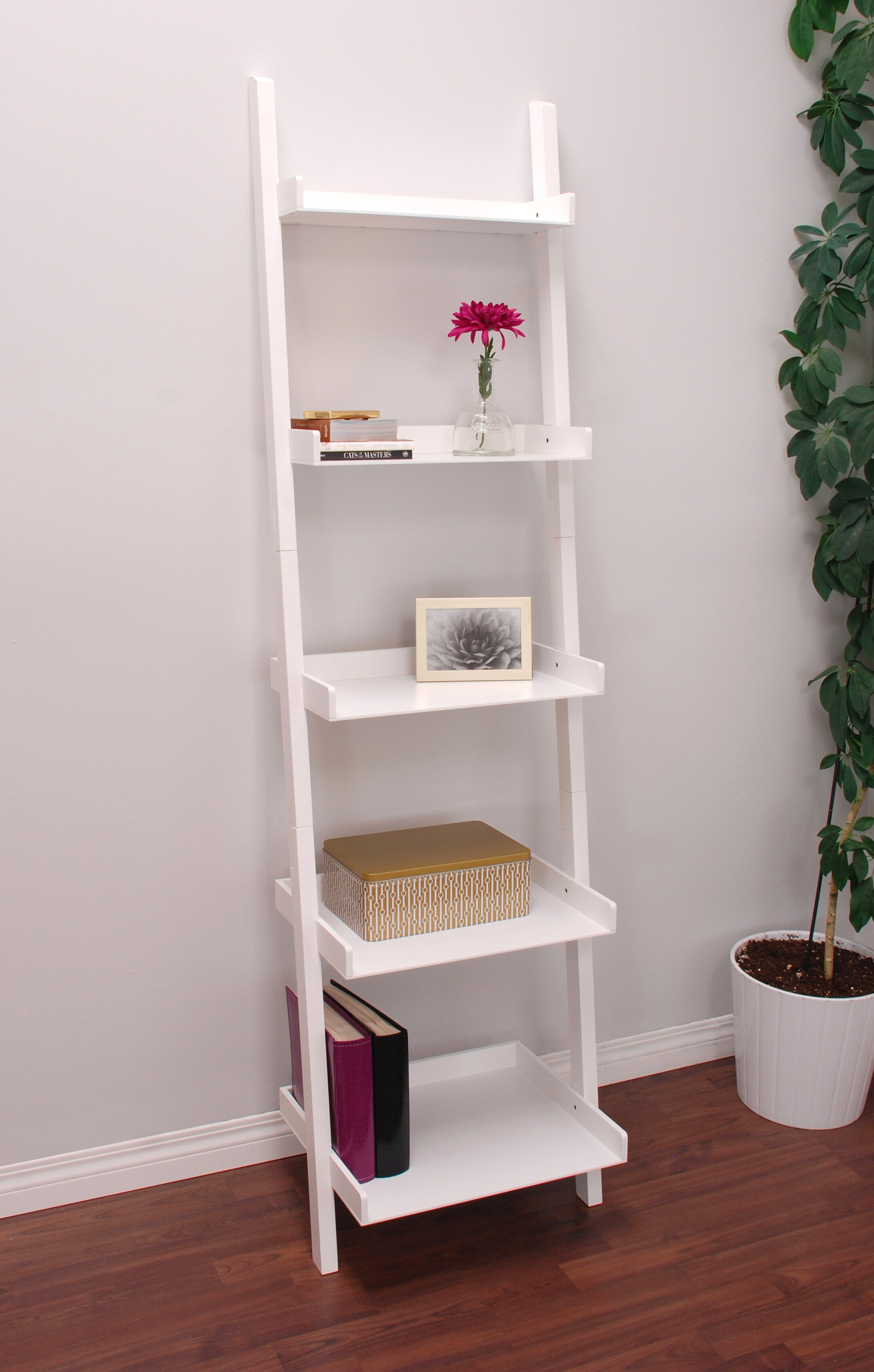 shelf drawers bookshelf black livingroom ladder leaning well wooden white storage as monarch lovely artwork inch with bookcase cappuccino
