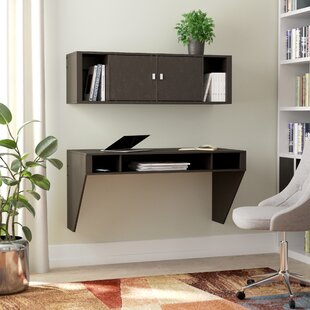 Dowlen Floating Desk with Hutch