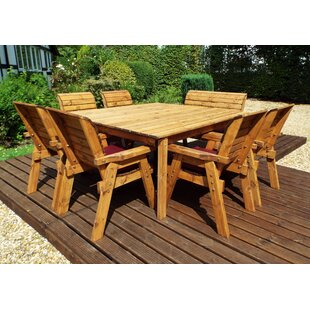 Francis 8 Seater Dining Set With Cushions By Union Rustic