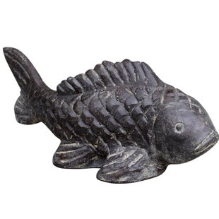 Cast Stone Fish Statue By House Of Hampton
