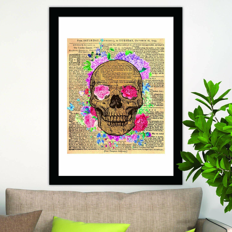 Wrought Studio Alderamin Flowery Skeleton Wall Decal Wayfair