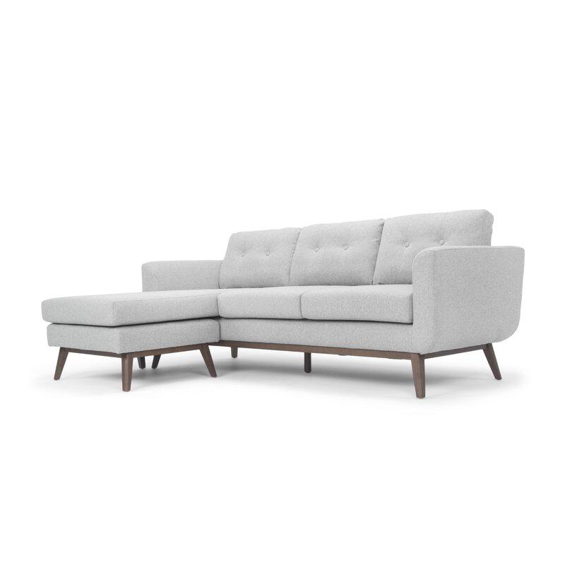 Brayden Studio  Varennes Reversible Sectional Upholstery Color: Orleans Light Grey