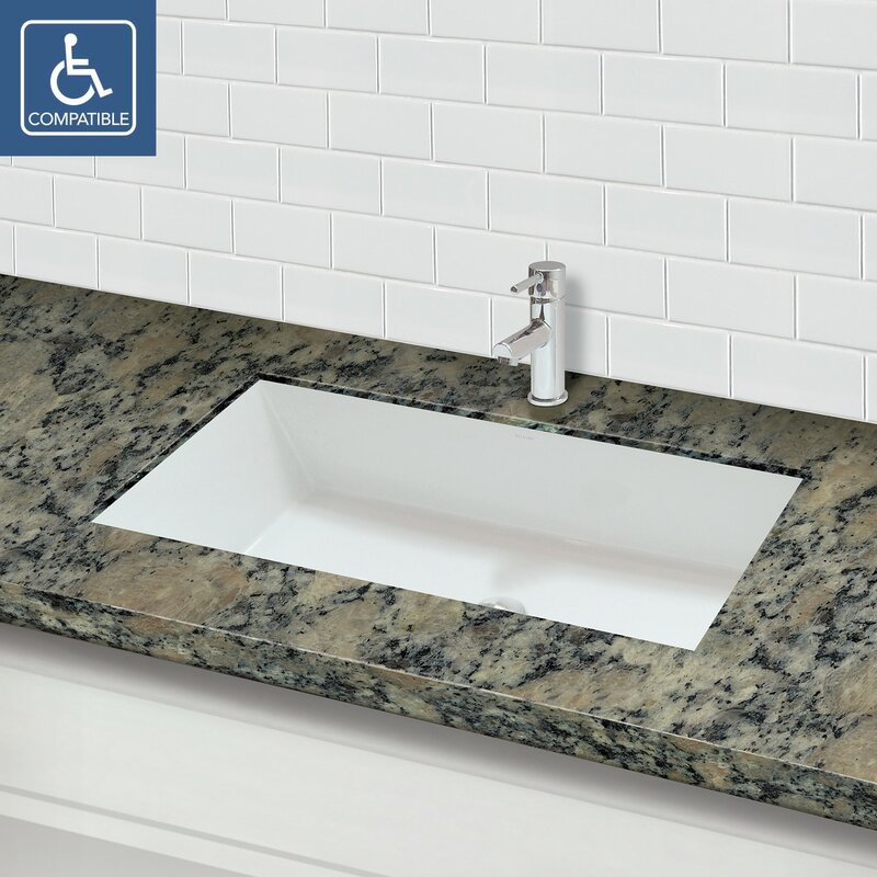 Sondra Solid Surface Other Rectangular Undermount Bathroom Sink With  Overflow