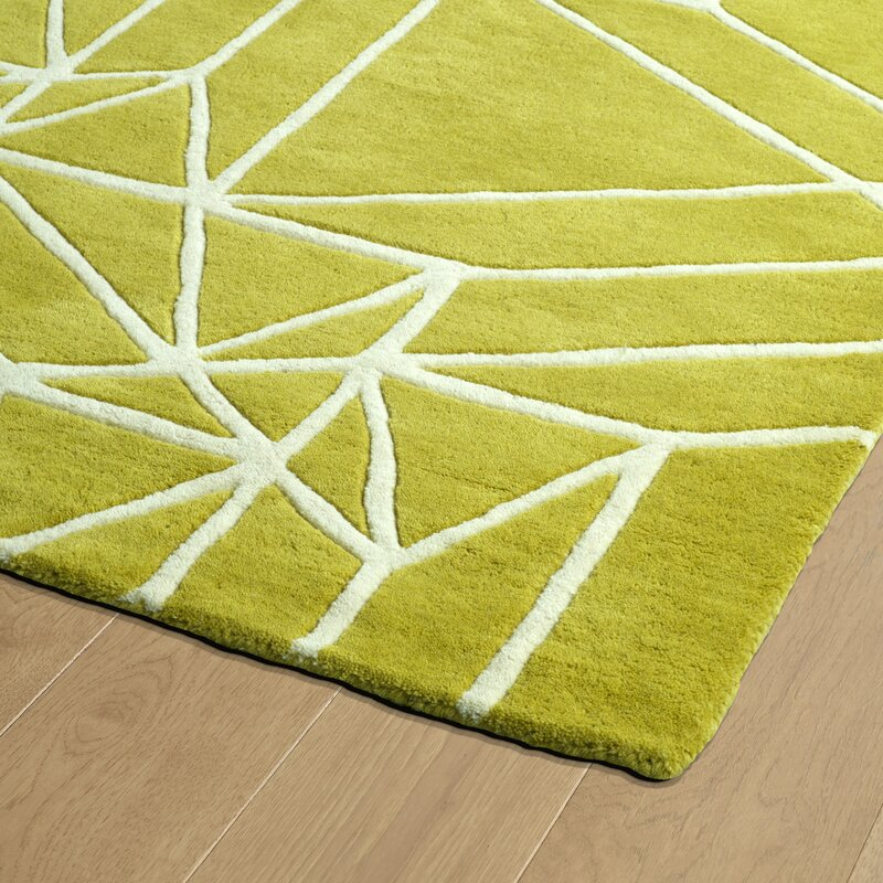Ronnie Hand Tufted Lime Green Area Rug