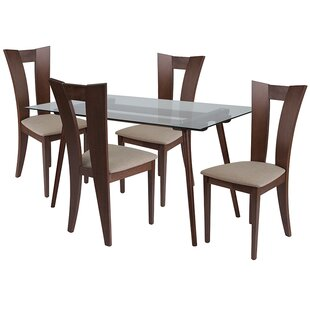 Lulu 5 Piece Dining Set by Ebern Designs