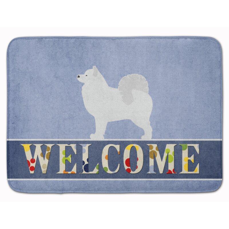 Samoyed Welcome Memory Foam Bath Rug