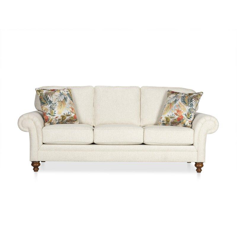 Larissa Chenille 88 Rolled Arm Sofa