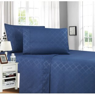 Brampt Stain Resistant Embossed Plaid Design Sheet Set