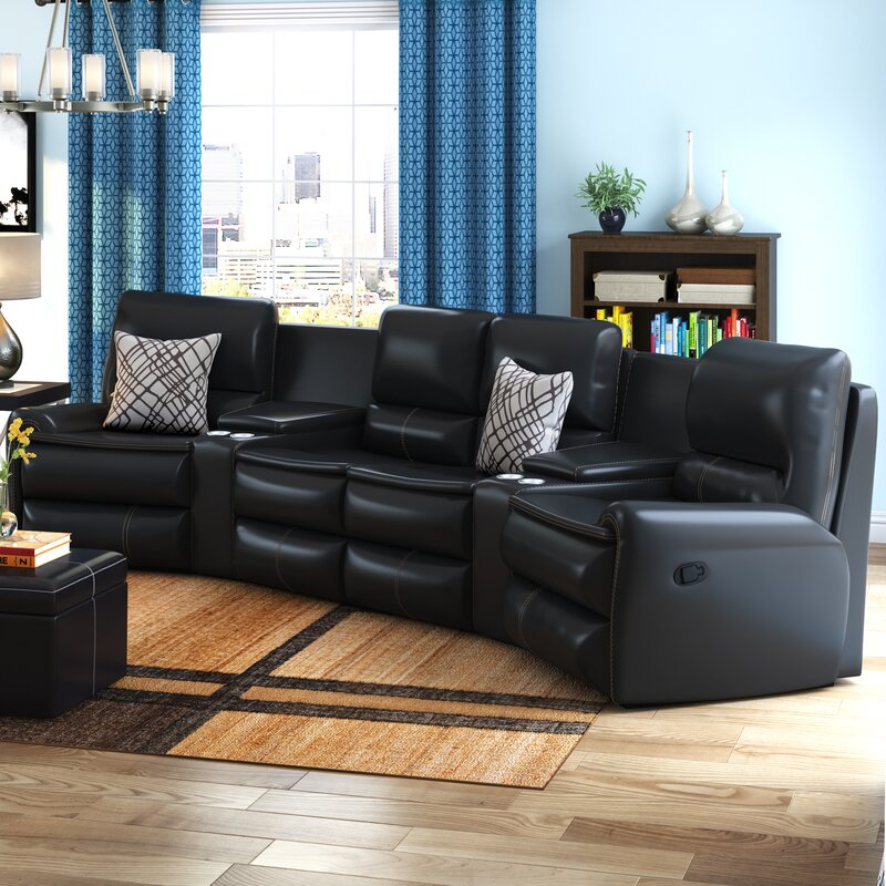 Yonkers Leather Reclining Sectional : leather reclining sectionals - Sectionals, Sofas & Couches
