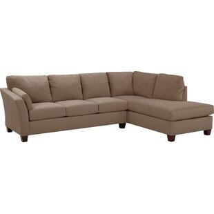 Bethany 118 inch  Sectional Sofa in Mocha