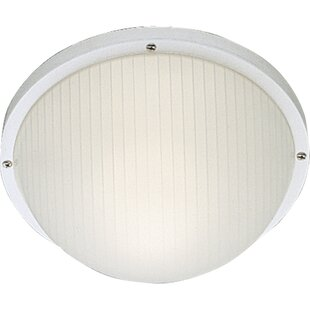 Check Prices O'Higgins 1-Light Outdoor Flush Mount By Red Barrel Studio