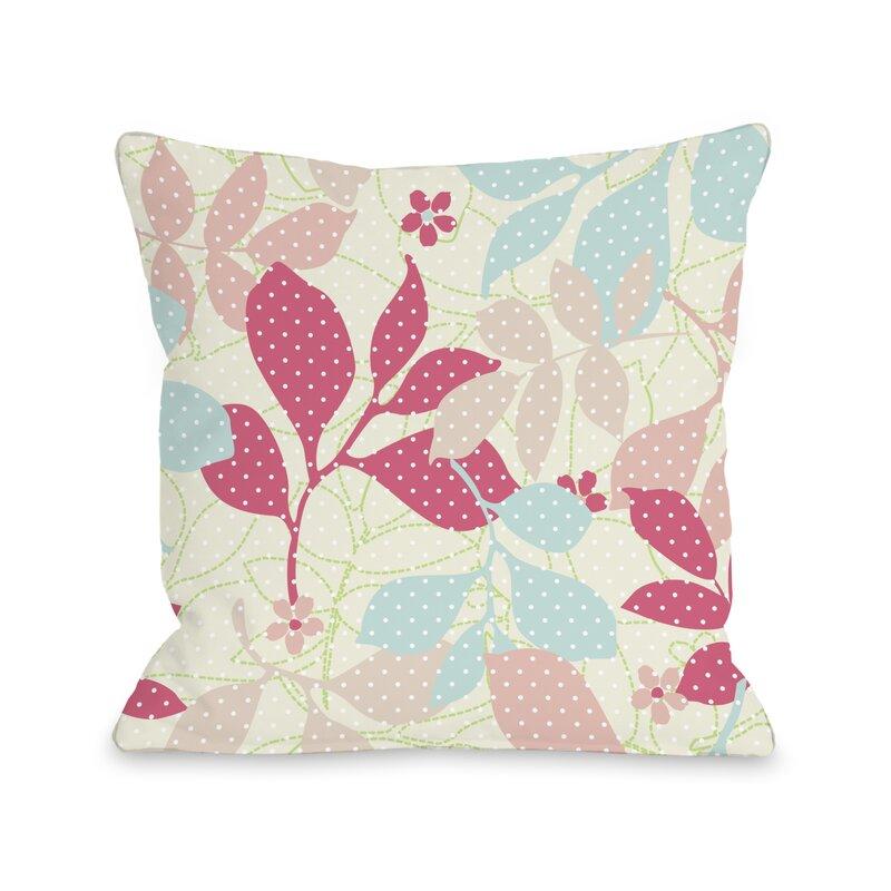 One Bella Casa Dottie S Ferns Throw Pillow Wayfair