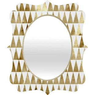 Wrought Studio Mcallister Triangle Pattern Quatrefoil Accent Mirror