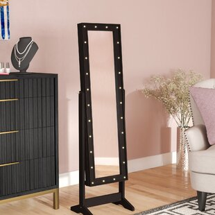 Lorna Free Standing Jewelry Armoire With Mirror