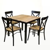 Standard Square Vintage Solid Wood Dining Table by REZ Furniture