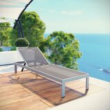 Contemporary Outdoor Patio Reclining Chaise Lounge