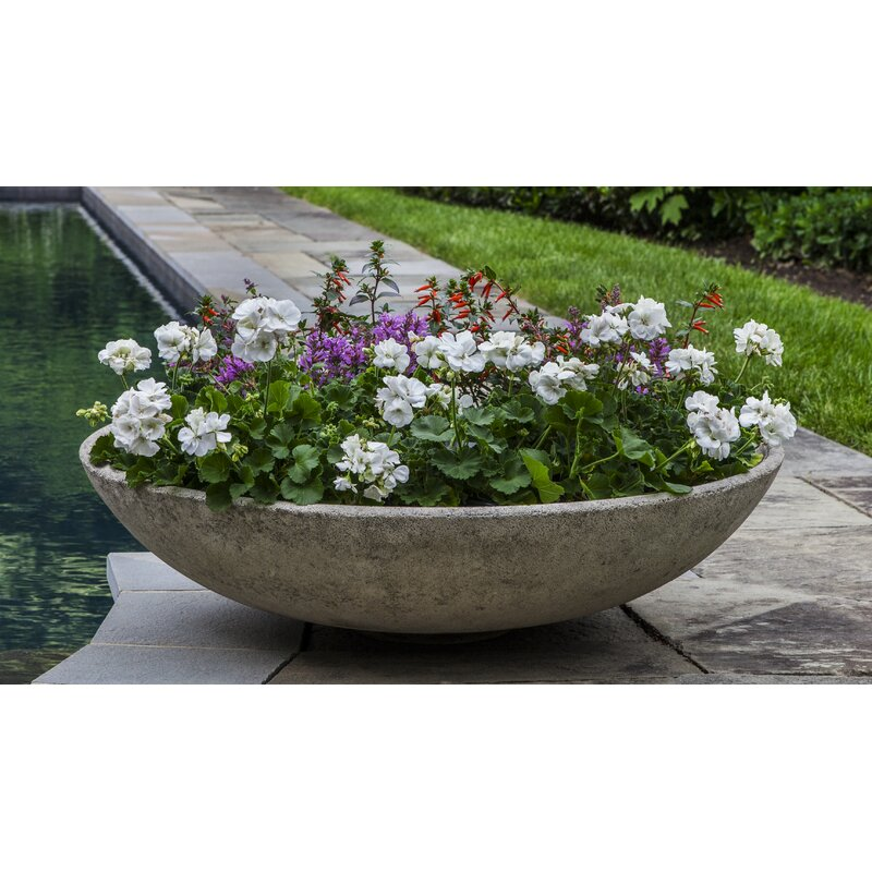 Latitude RunPettaway Bowl Cast Stone Pot Planter