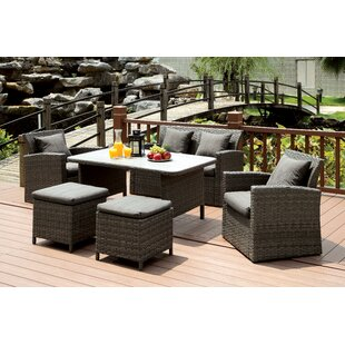 Camille 6 Piece Lounge Seating Group with Cushion