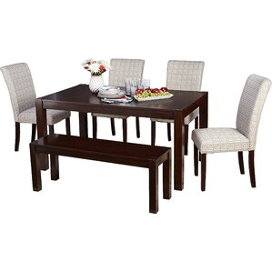White Kitchen Table With Bench bench kitchen & dining room sets you'll love | wayfair
