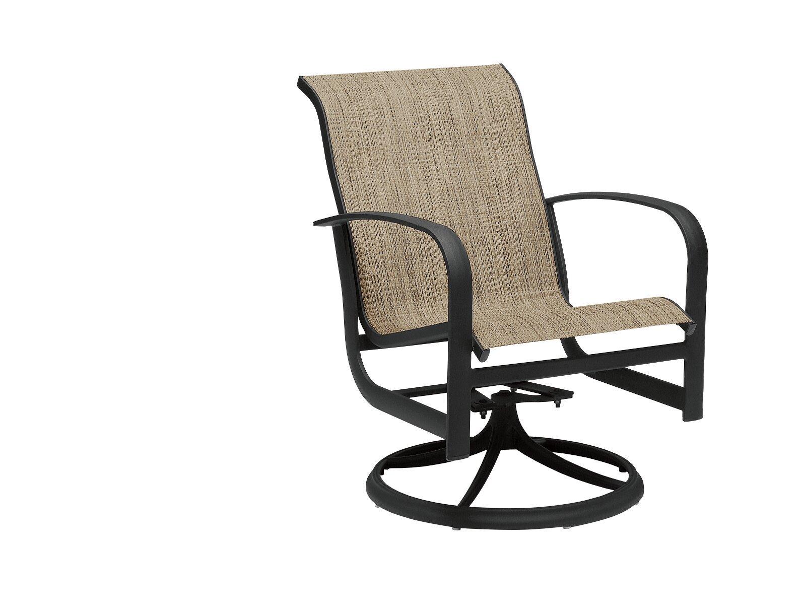 Picture of: Woodard Fremont Sling Rocker Swivel Patio Dining Chair Wayfair