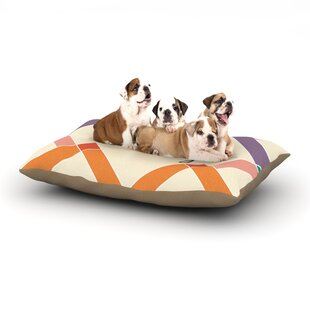 'Sophie' Colorful Geometry Dog Pillow with Fleece Cozy Top By East Urban Home