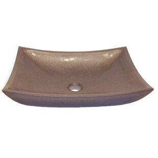 Zen Deep Honed Basalt Rectangular Vessel Bathroom Sink ByEden Bath