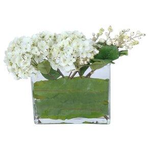 Hydrangea Floral Arrangement in Decorative Vase