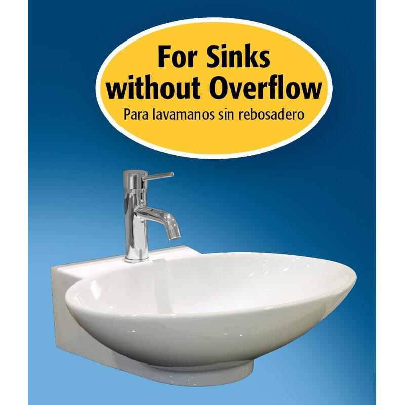 Universal Push On Pop Up Bathroom Sink Drain