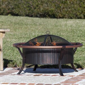 Rail Steel Wood Burning Fire Pit