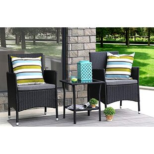 Giovanna 3 Piece Rattan Seating Group