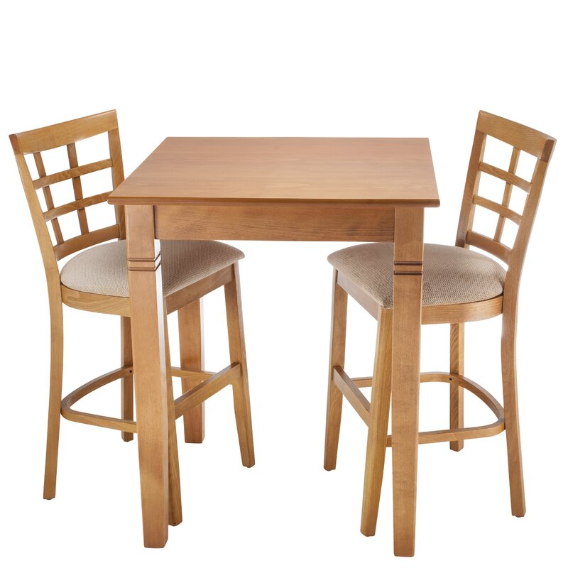 August Grove Harner 3 Piece Counter Height Pub Table Set