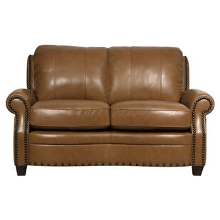 Hubbard Leather Loveseat by Darby Home Co Today Sale Only