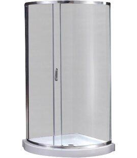 Breeze Premium 31 x 76 Round Sliding Shower enclosure with Base Included