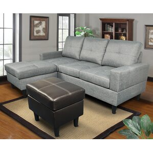 Ava Reversible Sectional by Beverly Fine Fur..