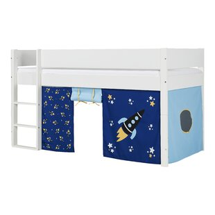 Quincy Single Mid Sleeper Bed With Curtain By Harriet Bee