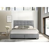 Ironwood Tufted Upholstered Low Profile Storage Platform Bed by Red Barrel Studio®